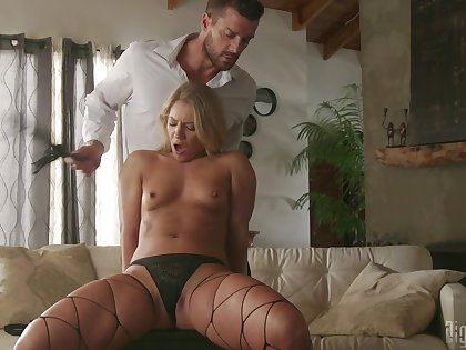 Naked Candice Dare feels amazing when fucking so hard