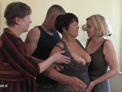 MOM mom and mom fucked by not their son