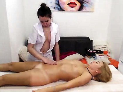 Real amateur lesbian kneading turns into rimjob coupled with fingering