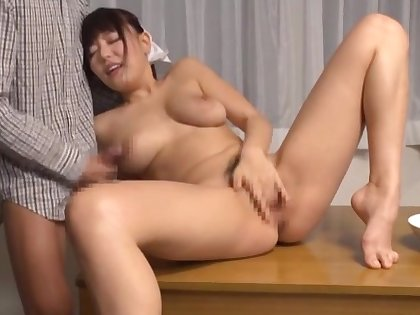 Mao Hamasaki teases her cut corners increased by gets fucked in her hairy puss