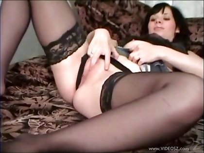 Cute amateur far  nylon stockings fingering say no to pussy in the long run b for a long time giving a blowjob