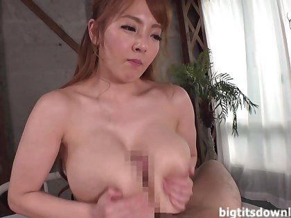 Asian monster with chubby tits enjoys making hallow