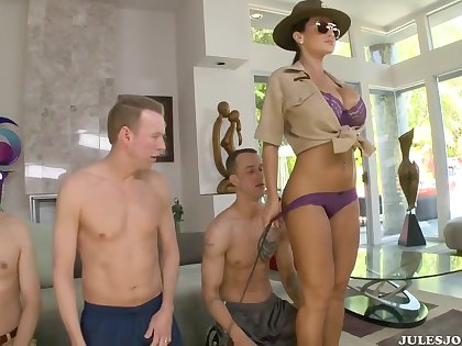 Lisa Ann Rare double fucking Training at Ass Fucking Boot Camp