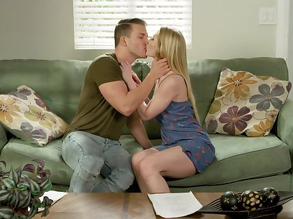 Unreserved blonde Emma Starletto gets it good from a lover